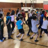 Garfield kids in after school program dancing to hip hop