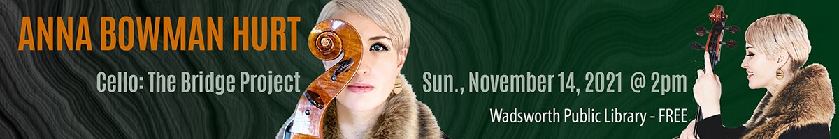 Banner Graphic for ORMACO presents - Anna Bowman (Cello): The Bridge Project